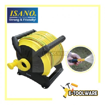 """Isano Wall-mounted Stackable Garden Hose Reel Set 20m w/ Accessories 1/2"""" Hose IHRS6120 Getah Paip"""