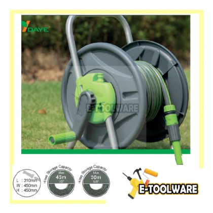 Daye DY650 30m Portable Gardening Hose Reel Set (Without Hose) | Free Standing