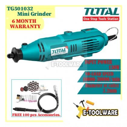 Total Drill Mini Grinder Mini Electric Die Grinder Electric Drill (130W) - TG501032