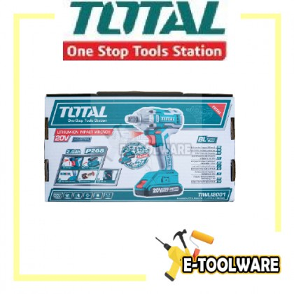 Total 20V Brushless Motor Cordless Impact Wrench [100% Original] - TIWLI2001