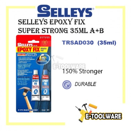 Selleys Epoxy Fix Super Strong 35ml A+B Repair Hand Tool Marble Concrete Pottery DIY Home  Glue 2 Ton