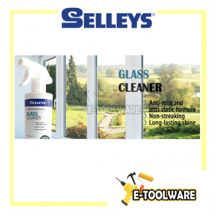 Selleys Glass Cleaner 500ml Door Hard Water Stain Anti Bacterial Formula Cleansing Glass