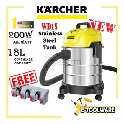Karcher WD1 Wet & Dry Vacuum Cleaner 1000W